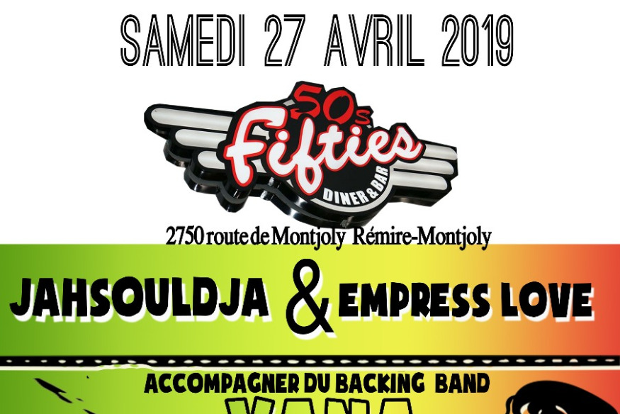 JahSouldja & Empress Love en concert au fifties